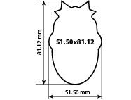 Наклейка фигурная 51.50х81.12 мм
