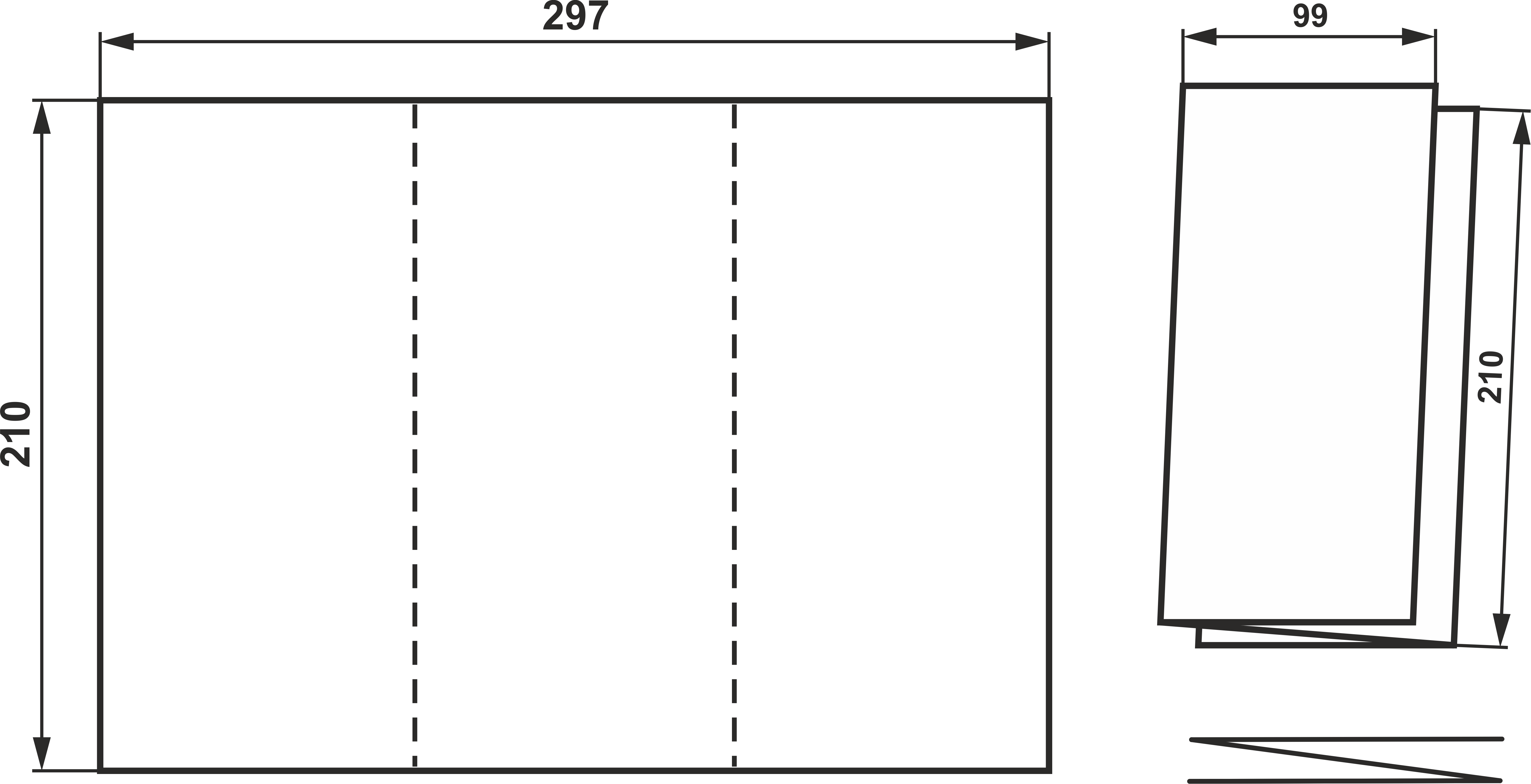 Буклеты с разными видами фальца - малые тиражи