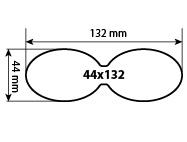 Наклейка фигурная 44х132 мм