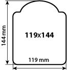 Наклейка фигурная 119х144 мм